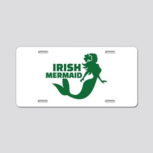 Irish mermaid Aluminum License Plate